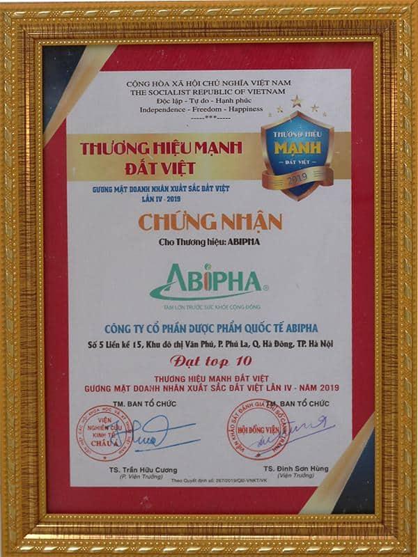 Top 10 thương hiệu mạnh đất Việt 2019