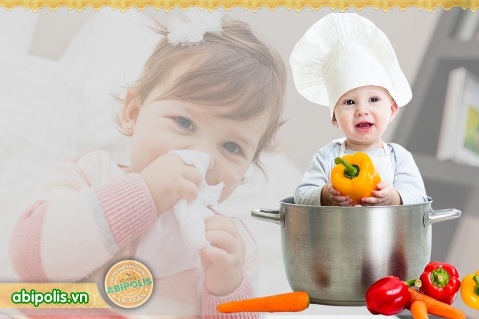 Gợi ý dinh dưỡng cho trẻ bị ho