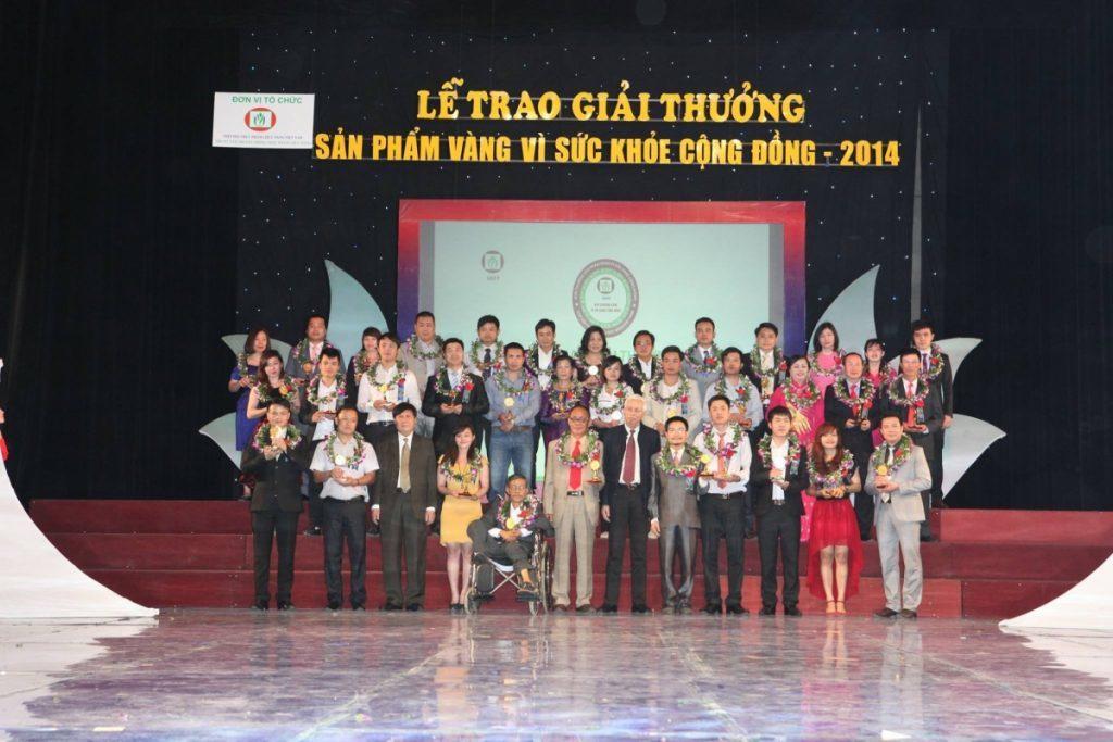 Sản phẩm vàng vì sức khỏe cộng đồng, giải thưởng 2014