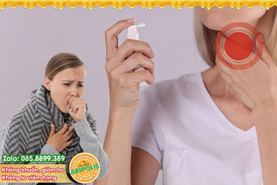 3 Ưu điểm của xịt họng keo ong bạn nên dùng khi bị ho, viêm họng